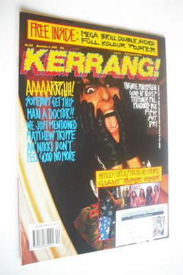 <!--1989-11-04-->Kerrang magazine - Nikki Sixx cover (4 November 1989 - Iss