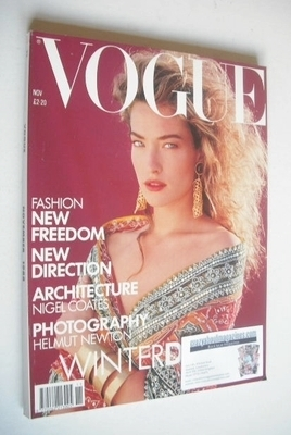 <!--1988-11-->British Vogue magazine - November 1988 - Tatjana Patitz cover