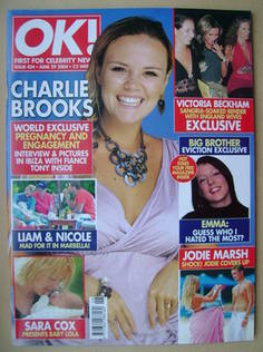 <!--2004-06-29-->OK! magazine - Charlie Brooks cover (29 June 2004 - Issue