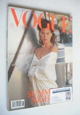 <!--1989-06-->British Vogue magazine - June 1989 - Carre Otis cover