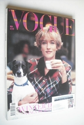 <!--1989-11-->British Vogue magazine - November 1989 - Tatjana Patitz cover