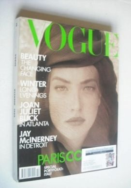<!--1988-10-->British Vogue magazine - October 1988 - Tatjana Patitz cover