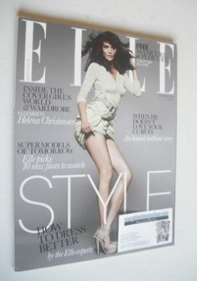 <!--2010-01-->British Elle magazine - January 2010 - Helena Christensen cov