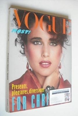 <!--1982-12-->British Vogue magazine - December 1982 - Andie MacDowell cove