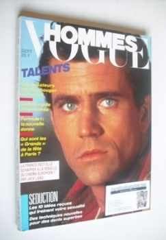 Paris Vogue Hommes magazine - September 1985 - Mel Gibson cover