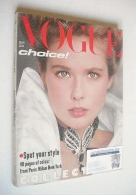 <!--1983-03-->British Vogue magazine - March 1983 (Vintage Issue)