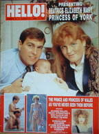 Hello! magazine - Prince Andrew, Sarah Ferguson, baby Beatrice cover (27 August 1988 - Issue 15)