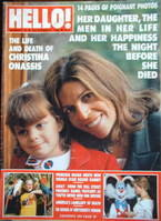 <!--1988-12-03-->Hello! magazine - Christina Onassis cover (3 December 1988