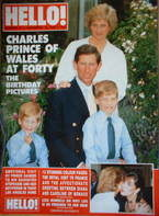 <!--1988-11-19-->Hello! magazine - Prince Charles birthday cover (19 Novemb
