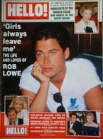<!--1988-11-12-->Hello! magazine - Rob Lowe cover (12 November 1988 - Issue