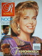 <!--1990-10-->Royalty Monthly magazine - Queen Noor cover (October 1990, Vo