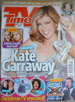 <!--2007-11-17-->TV Times magazine - Kate Garraway cover (17-23 November 20