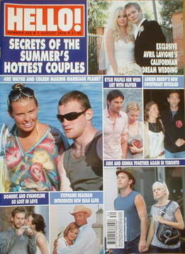 <!--2006-08-01-->Hello! magazine - Summer's Hottest Couples cover (1 August