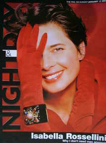 Night & Day magazine - Isabella Rossellini cover (12 January 2003)