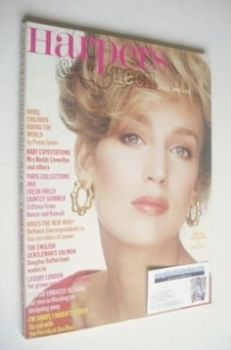 British Harpers & Queen magazine - July 1982 - Jerry Hall cover