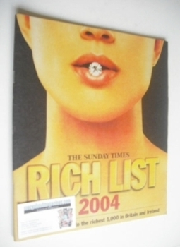 The Sunday Times Rich List 2004 magazine