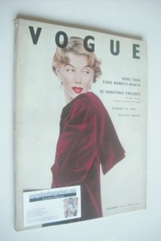 British Vogue magazine - November 1952 - Marilyn Monroe cover