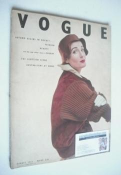 British Vogue magazine - August 1952 (Vintage Issue)