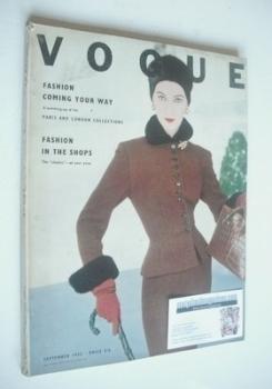 British Vogue magazine - September 1952 (Vintage Issue)