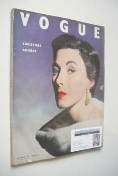 British Vogue magazine - December 1952 (Vintage Issue)