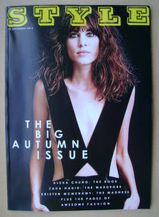 Style magazine - Alexa Chung cover (15 September 2013)