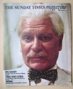 <!--1976-11-28-->The Sunday Times magazine - Laurence Olivier cover (28 Nov