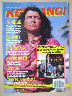 <!--1990-07-07-->Kerrang magazine - Ian Gillan cover (7 July 1990 - Issue 2