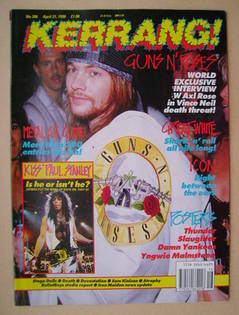 <!--1990-04-21-->Kerrang magazine - Axl Rose cover (21 April 1990 - Issue 2
