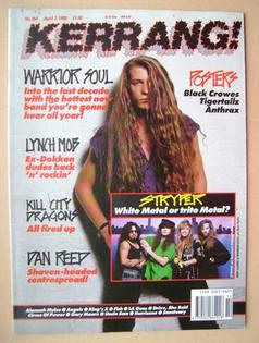<!--1990-04-07-->Kerrang magazine - Kory Clarke cover (7 April 1990 - Issue