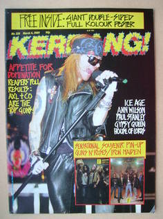 <!--1989-03-04-->Kerrang magazine - Axl Rose cover (4 March 1989 - Issue 22
