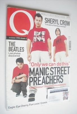 <!--1998-10-->Q magazine - Manic Street Preachers cover (October 1998)