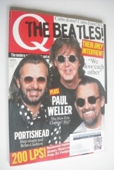 Q magazine - Ringo Starr, Paul McCartney, George Harrison cover (December 1995)
