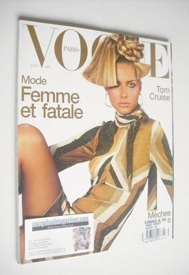 <!--2000-08-->French Paris Vogue magazine - August 2000 - Ana Claudia cover