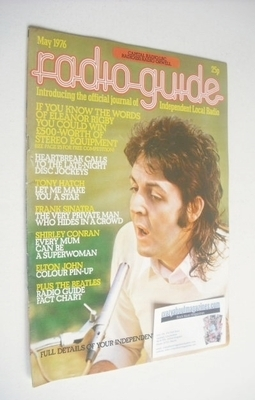 Radio Guide magazine - Paul McCartney cover (May 1976)