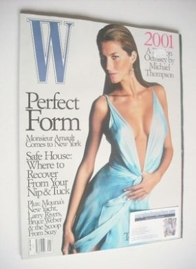 <!--2000-01-->W magazine - January 2000 - Gisele Bundchen cover