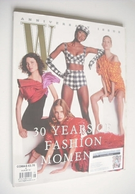<!--2002-08-->W magazine - August 2002 - 30 Years of Fashion Moments cover