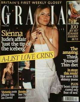 Grazia magazine - Sienna Miller cover (1 August 2005)