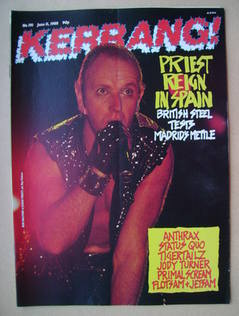 <!--1988-06-11-->Kerrang magazine - Rob Halford cover (11 June 1988 - Issue
