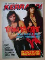 <!--1988-11-05-->Kerrang magazine - Geoff Tate and Chris De Garmo cover (5 November 1988 - Issue 212)