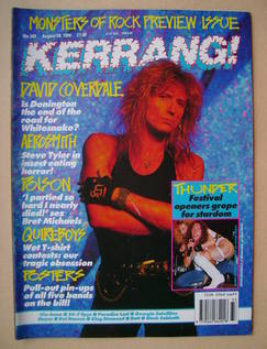 <!--1990-08-18-->Kerrang magazine - David Coverdale cover (18 August 1990 -