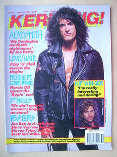 <!--1990-08-11-->Kerrang magazine - Joe Perry cover (11 August 1990 - Issue