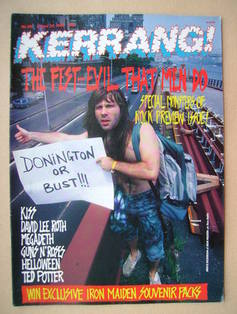 <!--1988-08-20-->Kerrang magazine - Bruce Dickinson cover (20 August 1988 -