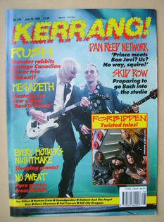 <!--1990-07-14-->Kerrang magazine - Alex Lifeson and Geddy Lee cover (14 Ju