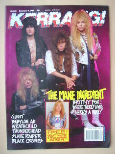 <!--1989-12-09-->Kerrang magazine - Britny Fox cover (9 December 1989 - Iss