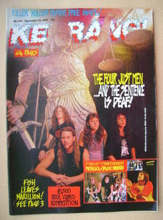 <!--1988-09-24-->Kerrang magazine - Metallica cover (24 September 1988 - Is