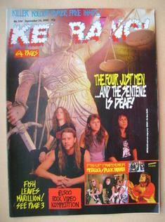 <!--1988-09-24-->Kerrang magazine - Metallica cover (24 September 1988 - Is