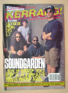 <!--1992-04-04-->Kerrang magazine - Soundgarden cover (4 April 1992 - Issue