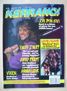 <!--1990-07-28-->Kerrang magazine - Jon Bon Jovi cover (28 July 1990 - Issu