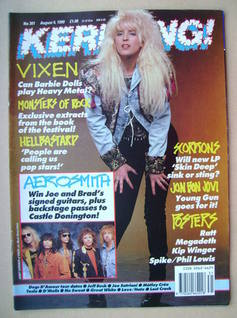 <!--1990-08-04-->Kerrang magazine - Janet Gardner cover (4 August 1990 - Is