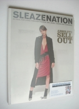 <!--2001-10-->Sleazenation magazine - October 2001 - Absolute Sell Out cover
